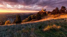 Photo Sunset at Cachtice Castle by Ľuboš Balažovič on Medieval Castle, Monument Valley, Nature Photography, Earth, Mountains, Sunset, Wolves, Landscapes, Travel