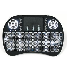 I8 White Backlit 2.4Ghz Wireless Mini Keyboard Air Mouse Touchpad Sale - Banggood.com Keyboard With Touchpad, Mini Keyboard, Computer Keyboard, Google Tv, Tv Remote Controls, Photography Camera, Card Reader, Goods And Service Tax, Bluetooth