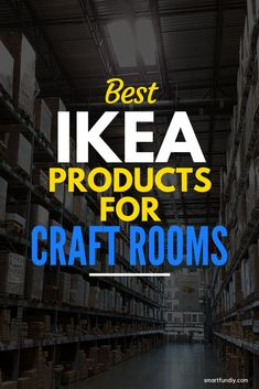 THe Absolute BEST IKEA Craft Room Ideas - the Original! I am planning my craft room makeover and I am so glad I found this updated shopping list for the best CRAFT ROOM furniture from IKEA! Who knew t Craft Room Storage, Ikea Craft Room, Craft Room Decor, Storage Ideas, Craft Storage Solutions, Storage Cart, Storage Hacks, Diy Design, Craft Room Design