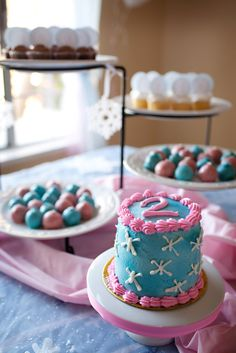 Winter wonderland girl Birthday Party!  See more party ideas at CatchMyParty.com!