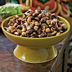 Indian-Spiced Roasted Nuts | CookingLight.com