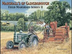 Large Metal wall sign Field Marshall series 2 Tractor