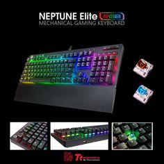 e5f629e1e2c #TteSPORTS Neptune Elite RGB gaming keyboard - Floating keycap design -  16.8 million RGB color