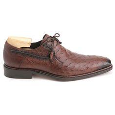 Luxury & Exotic Skin Shoes for Men. Mezlan Romano Tabac Oxfords Genuine  Ostrich Skin