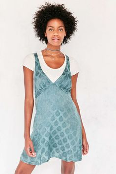 Kimchi Blue Sophia Jacquard Mini Slip Dress - Urban Outfitters