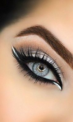 Fancy trying eyeshadow makeup - make up - . - Fancy trying eyeshadow makeup – Make up – up attempt - White Eyeshadow, Eyeshadow Looks, Eyeshadow Makeup, White Eyeliner Makeup, Brown Eyeliner, Eyeliner Pencil, White Eyeliner Looks, Applying Eyeshadow, Make Up Designs