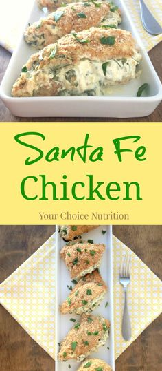 Santa Fe Chicken - Creamy stuffed chicken with a slight kick!