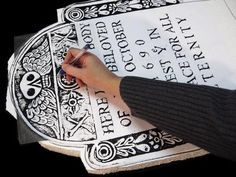 Make your own Styrofoam tombstone for less and more personalized than store bought tombstones.