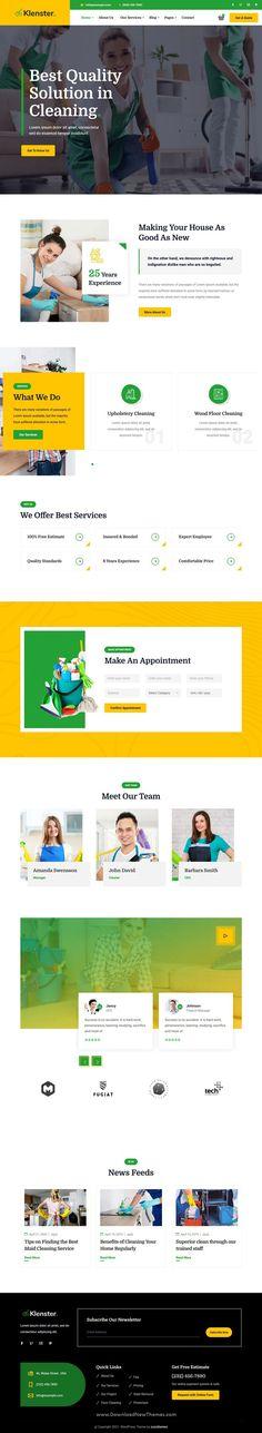 Web Design, Modern Design, Amazing Website Designs, Professional Website, Cleaning Services, Premium Wordpress Themes, Corporate Design, Maid, Revolution