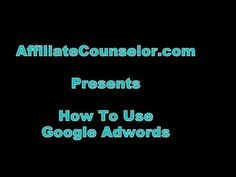 This Google Adwords tutorial shows how to set up an account, write an ad & target traffic by filtering potential customers by countries, regions or cities.