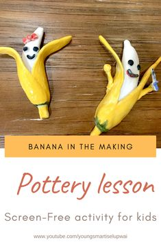 One of the best screen-free activities is the pottery lesson where the child will focus and create something that they like. Check out the process of making the banana with the use of clay. Youtube Videos For Kids, Pottery Lessons, Character Education, Free Activities, Mixer, Homeschooling, Lifestyle Blog, Parenting, Banana