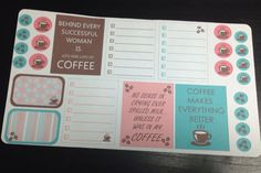 Guilty Pleasures Coffee sticker set   for by TheEmeraldBluebird