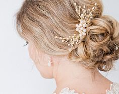 Blush Hairpiece Blush Bridal Hair Comb Bridal by SarahWalshBridal