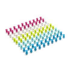 Assorted Push Pins, Box of 100,Assorted