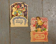 Vintage Valentine Card Fold Out Valentine German by GizmoandHooHa