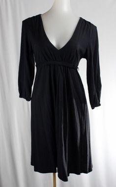 OLD NAVY Small Black 3/4 Sleeve Stretch Dress #OldNavy #StretchBodycon #Casual