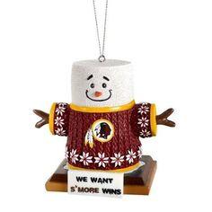 Washington Redskins 2015 NFL Football Team Logo Smores Holiday Tree Ornament