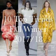 10  Trends for Fall Winter 2017/18 by @italo4eva  to see the full gallery click the link up in bio  #fashion #trend #fall #winter #fw1718  via VOGUE ITALIA MAGAZINE OFFICIAL INSTAGRAM - Fashion Campaigns  Haute Couture  Advertising  Editorial Photography  Magazine Cover Designs  Supermodels  Runway Models