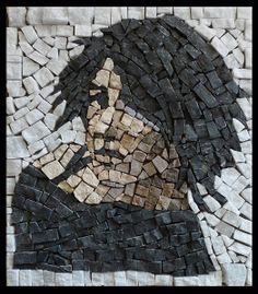 Mosaic portrait #mosaic