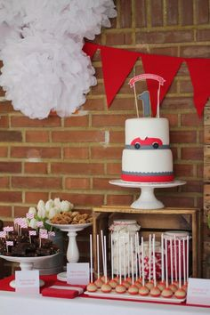 Vintage Red Car Themed Birthday Party {Planning, Decor, Ideas, Cake}