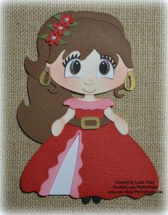 Disney princesa Elena Premade Scrapbooking adorno por MyCraftopia