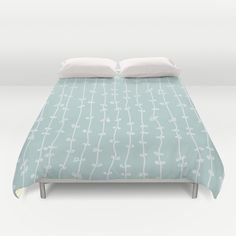 Swirls and Stripes Light Blue Abstract Duvet Cover