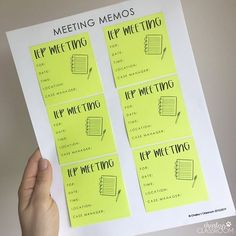 An IEP Meeting Reminder freebie from Charley's Classroom on Teachers Pay Teachers. Iep Meetings, Progress Monitoring, Special Education Classroom, My Teacher, Teacher Resources, How To Plan, How To Make, Student, Teaching