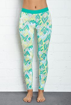 Watercolor Athletic Leggings | FOREVER21