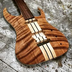 """Curly Redwood = Wooden silk. Come to the 2016 Winter NAMM show and you may get to see this Masai 7 in person!  #EquilibriumGuitars #EQGuitars #EQYourSound…"""