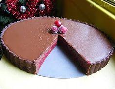 Jasmine Cuisine: Tarte à la gelée de canneberge et ganache au chocolat