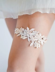 @Nicole Novembrino Novembrino Erhardt  this is clearly a million years down the road, but this made me think about how cute it would be if your daughter's something old was a garter made out of those lace pieces from your dress.