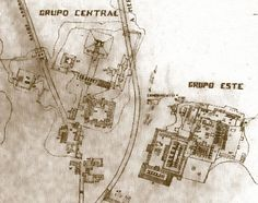 Mapa de la zona arqueológica der Kabah