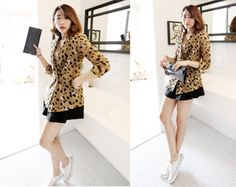 Today's Hot Pick :Leopard Coat http://fashionstylep.com/SFSELFAA0001702/righthen/out Look classy and chic with this coat. It has a leopard pattern with notch lapel and a slim fit double breasted design. This coat is best fit to wear with sheath dresses and heels.