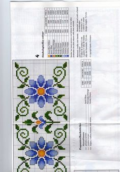 Cross Stitch Borders, Cross Stitch Flowers, Counted Cross Stitch Patterns, Sewing Art, Baby Sewing, Alpha Patterns, Brick Stitch, Needlepoint, Embroidery Designs