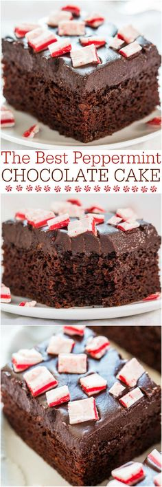 The Best Peppermint Chocolate Cake - Easy, one-bowl, no mixer cake! Decadently chocolaty, perfectly pepperminty! Your new favorite cake!!