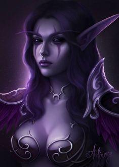 Dark Fantasy Art, Fantasy Art Women, Fantasy Artwork, World Of Warcraft, Art Warcraft, Warcraft Characters, Fantasy Characters, Fantasy Character Design, Character Art