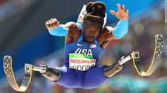"American athlete Regas Woods competes in the long jump during <a href=""http://www.cnn.com/2016/09/19/sport/rio-2016-paralympics-memorable-moments-duplicate-2/index.html"" target=""_blank"">the Paralympic Games</a> in Rio de Janeiro on Saturday, September 17."