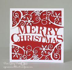 A CAS Memory Box Merry Christmas card...