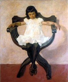 Portrait of the Daughter Lorli to Albin Egger-Lienz we manufacture for you on watercolor paper, canvas or poster paper. Belle Epoque, Watercolor Paper, Little Girls, Daughter, Museum, Contemporary, Canvas, Illustration, Pictures
