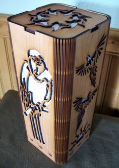 Parrot Lamp - Shoji Stye Lamp - Laser Cut.