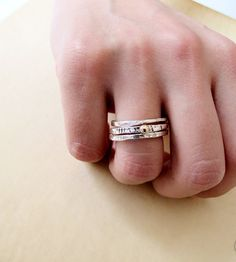 Stackable Silver & Gold Rings by Mawadda A on Scoutmob Shoppe