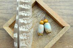 Jaspis,mookait Elf, Drop Earrings, Vintage, Jewelry, Jewlery, Jewerly, Schmuck, Elves, Drop Earring