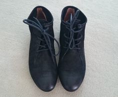 Black lace-up shoes, Paul Green