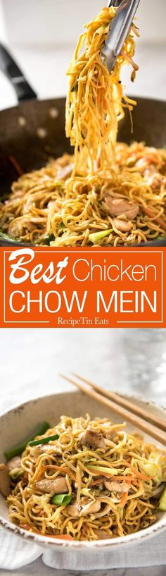 Mein This Chow Mein really does taste like what you get from Chinese restaurants. The secret is getting the sauce right!This Chow Mein really does taste like what you get from Chinese restaurants. The secret is getting the sauce right! Chinese Cooking Wine, Asian Cooking, Best Chicken Chow Mein Recipe, Chow Main Recipe, Chow Mein Sauce Recipe, Easy Chow Mein Recipe, Homemade Chow Mein, Chow Mein Recipe Vegetable, Chow Mein Au Poulet
