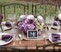 Luxe Floral Arrangement Reception by CuriousFloralCrafts on Etsy, $95.00 sola flowers, alternative flowers, wedding flowers, purple wedding, radiant orchid