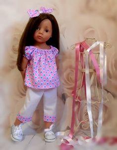 gypsy top capri pants & hair bow Gotz Hannah/designafriend dolls by Vintagebaby