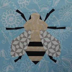Spring Bee Quilt Block - Free PDF Paper Piecing Pattern from Modern Quilting by B