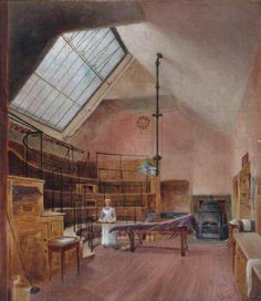 The Operating Theatre at London Hospital, demolished 1889, by F. M. Harvey