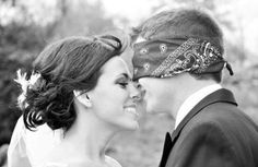 I love this idea! A picture of the bride and groom BEFORE the wedding. Brilliant :)