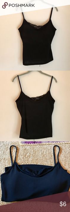 Kay Celine Camisole Kay Celine camisole with lace at the top and a padded built in bra. Tag was cut off but is a size large. Kay Celine Tops Tank Tops